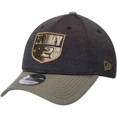 ユニセックス スポーツリーグ モータースポーツ Ryan Blaney New Era Military Salutes 9FORTY Snapback Hat - Black/Olive - OSFA