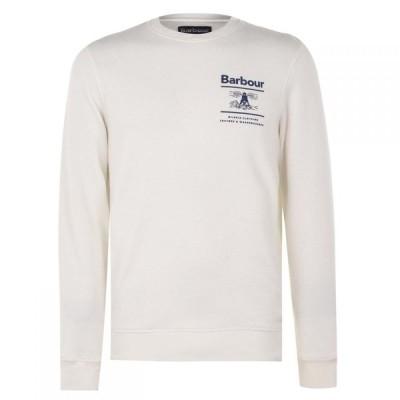 バブアー Barbour メンズ スウェット・トレーナー トップス Reed Crew Sweatshirt Ecru BE