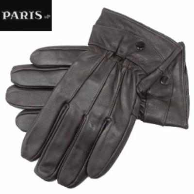 ◆手袋◆PARIS16e 羊革/シープスキン チョコ茶 メンズ グローブ メール便可 LAM-N07-BR
