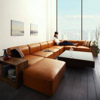 コーナーソファー コーナーソファ L字 l字型 l型 おしゃれ 北欧 安い ふかふか レザー 革 合皮 カウチ( ソファ&サイドテーブル 5P 幅300c