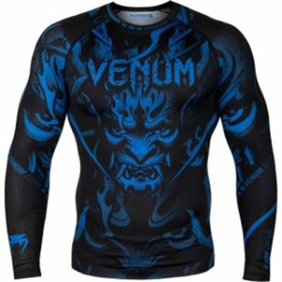 ファッション トップス Venum Devil Long Sleeve Compression Rashguard - Navy Blue/Black