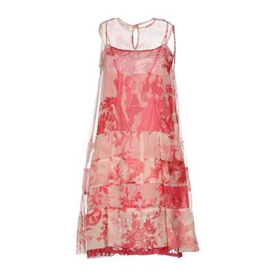 ドンダップ DONDUP ミニワンピース&ドレス レッド 42 シルク 100% ミニワンピース&ドレス