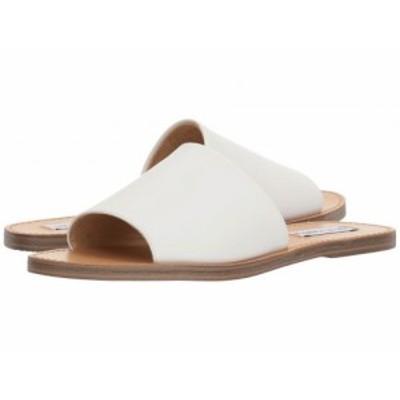Steve Madden スティーブマデン レディース 女性用 シューズ 靴 サンダル Grace Slide Sandal White Leather【送料無料】