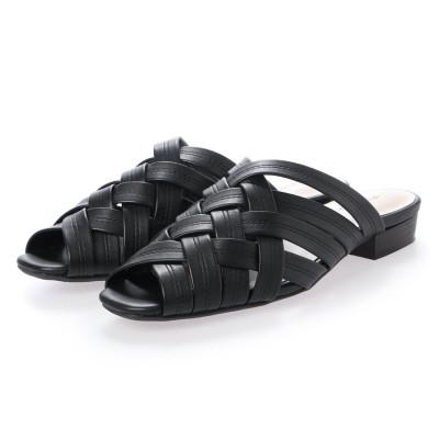 リーカ RiiiKa クロスデザインサンダル (black)