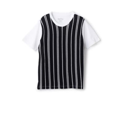 フロント切り替えストライプTシャツ