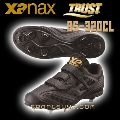 送料無料、縫いP革無料、ザナックス野球スパイクBS-320CL、軽量、ワイドラストタイプ、交互ベルトでピッタリフィット