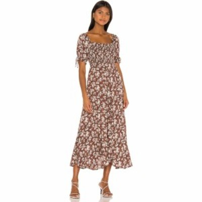 オーギュスト AUGUSTE レディース ワンピース ミドル丈 ワンピース・ドレス Matilda Nina Midi Dress Brown