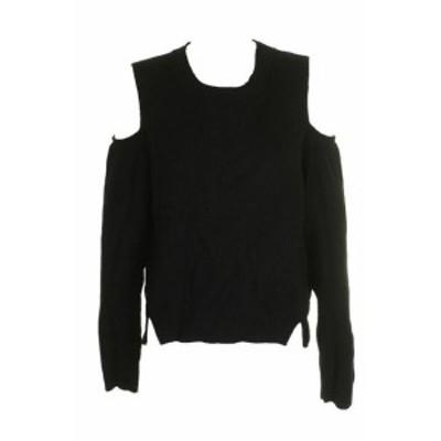 lucky ラッキー ファッション トップス Lucky brand black long sleeve cold-shoulder open side hems