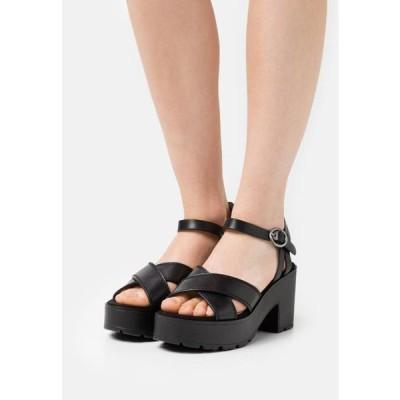 レディース 靴 シューズ EMELINE - Platform sandals - black