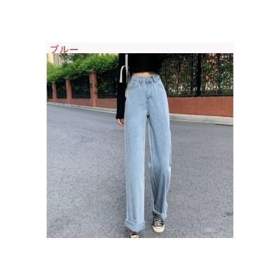 【送料無料】韓国風 ハイウエスト 何でも似合う 女性のジーンズ 年 秋 ストレート   364331_A63454-2678409