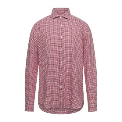 GUGLIELMINOTTI シャツ レッド 42 コットン 98% / ポリウレタン 2% シャツ
