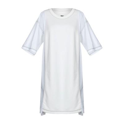 MM6 メゾン マルジェラ MM6 MAISON MARGIELA ミニワンピース&ドレス ホワイト M コットン 75% / ポリエステル 25%