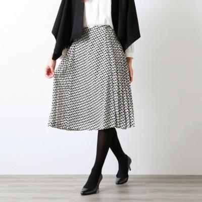 【XSサイズ〜】ブロックジオメトリックプリントスカート