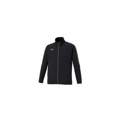 mizuno/ミズノ  MC-LINE ウォームアップジャケット ユニセックス L (ブラック×ブラック×ゴールド) 32MC0110-09