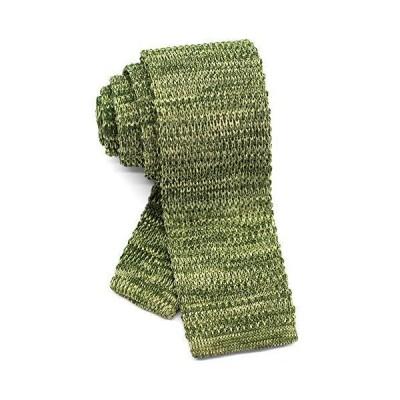 ダブリューアンドエム ニットタイ ナロータイ ニット ネクタイ 洗濯 可能 無地 杢 霜降り メランジ ヘザー グリーン グラス 黄 緑