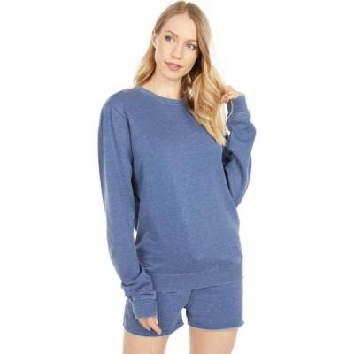 ジョイブラ Joy Bra レディース スウェット・トレーナー トップス Undie Couture Acid Wash Sweatshirt Navy