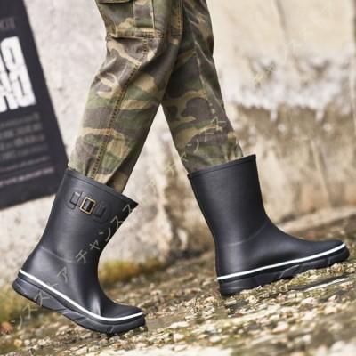 雨靴 メンズ レインブーツ 農作業 軽量 超軽量 軽い 長靴 ショート丈 ショートブーツ エンジニアブーツ 防水 防滑 柔らかい 長ぐつ 雨 キャンプ ガーデニング