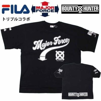 正規品 FILA HERITAGE x MajorForce x バウンティハンター コラボ FS0107 Tシャツ 半袖 半そで フィラ メジャーフォース MajorForce Major Force BountyHunter