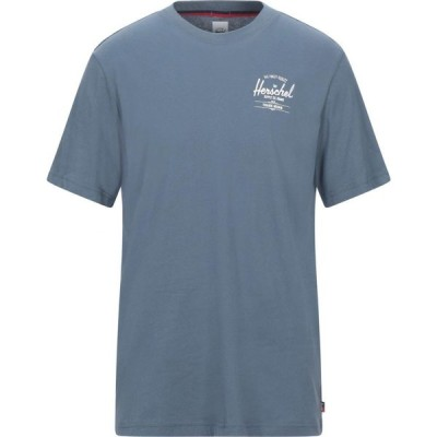 ハーシェル サプライ HERSCHEL SUPPLY CO. メンズ Tシャツ トップス t-shirt Slate blue