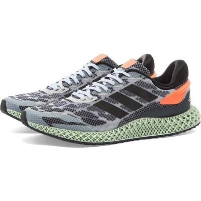 アディダス Adidas メンズ スニーカー シューズ・靴 4D 1.0 White/Black/Coral