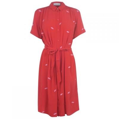 ファビエンヌ シャポット Fabienne Chapot レディース ワンピース シャツワンピース ワンピース・ドレス Boyfriend Shirt Dress ROMANCE RED