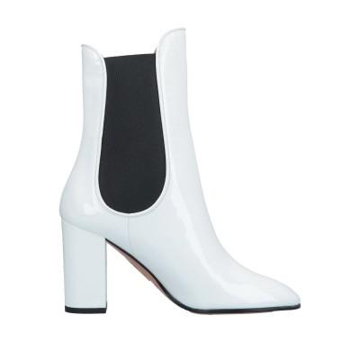 アクアズーラ AQUAZZURA ショートブーツ ホワイト 40.5 革 / 伸縮繊維 ショートブーツ