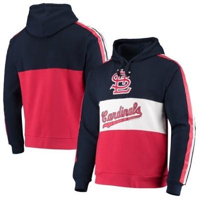 ミッチェル&ネス メンズ パーカー・スウェット アウター St. Louis Cardinals Mitchell & Ness Leading Scorer Fleece Pullover Hoodie