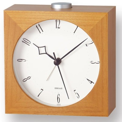置き時計 Lemnos レムノス Erias イリアス T2-807A(S) T2-807AB(S) 置き時計 アラーム おしゃれ