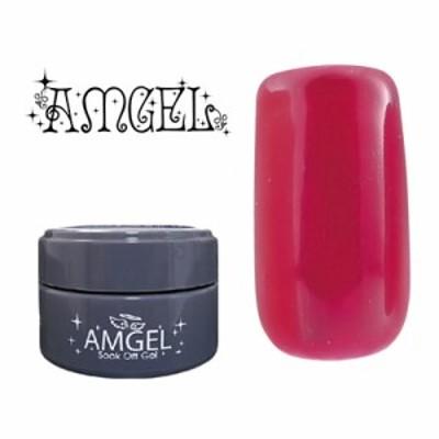 ジェルネイル セルフ カラージェル アンジェル AMGEL カラージェル AG1025 アカモンレッド 3g