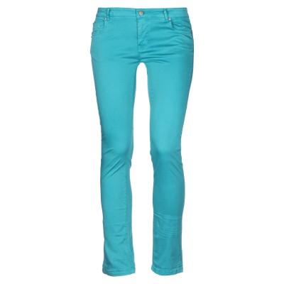 FRACOMINA パンツ ターコイズブルー 28 コットン 97% / ポリウレタン 3% パンツ