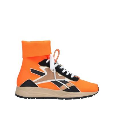 REEBOK x VICTORIA BECKHAM スニーカー&テニスシューズ(ハイカット) オレンジ 8.5 革 / 紡績繊維 スニーカー&テニス