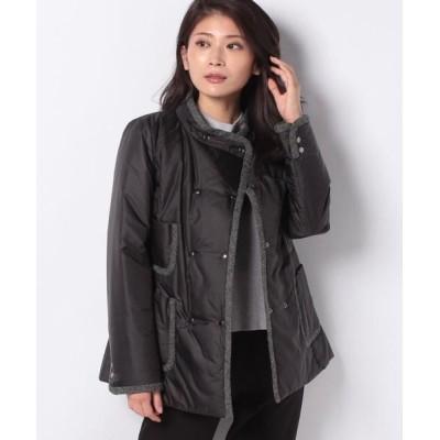 Leilian/レリアン デザインポケット付き中わたショートコート ブラック9 9