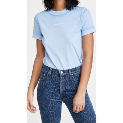 ステラ マッカートニー Stella McCartney レディース Tシャツ トップス T-Shirt Overprinted Color Shirt Light Blue