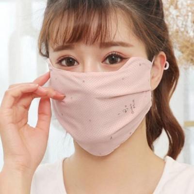 UVカットマスク冷感夏用マスク2枚セットクールマスクメッシュマスク大人用洗える涼感素材マスク