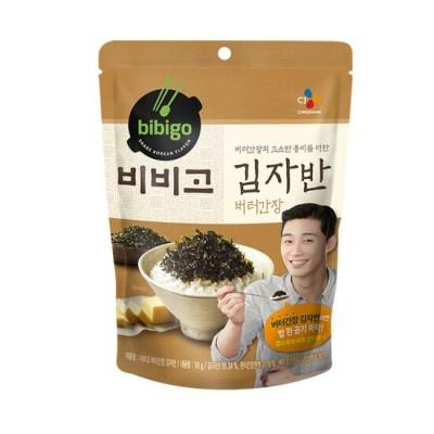 [CJ ビビゴ]バター醤油海苔 50g*5/キムチ炒め 1個おまけ /韓国食品/ 韓国のり/韓国海苔/キムガンシク/海苔ふりかけ