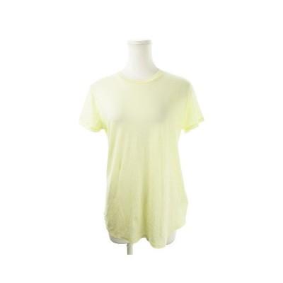【中古】ミラオーウェン Mila Owen Tシャツ カットソー クルーネック 半袖 0 黄 イエロー /AH9 ☆ レディース 【ベクトル 古着】