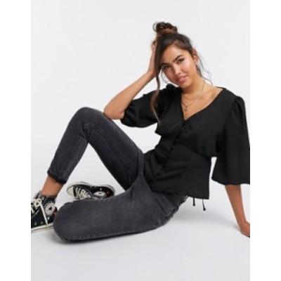 ニュールック レディース シャツ トップス New Look tea blouse in black Black