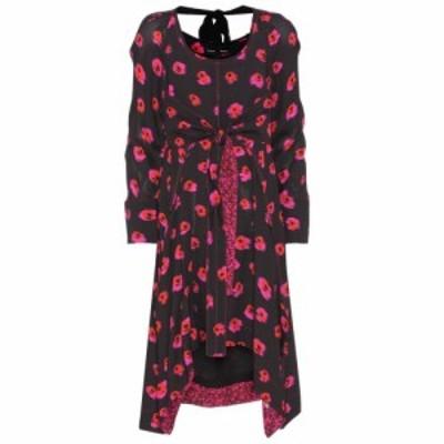 プロエンザ スクーラー Proenza Schouler レディース ワンピース ワンピース・ドレス Printed crepe dress Black/Electric Pink/Pumpkin