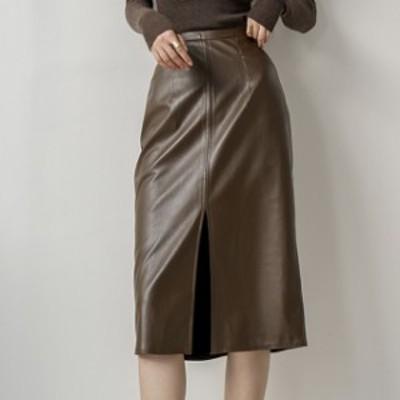 スリットスカート タイトスカート ロングスカート 大きいサイズ レディース 送料無料 スリット Aラインスカート オフィス ミディアム丈