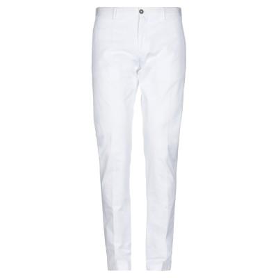 FLOWERS パンツ ホワイト 52 コットン 97% / ポリウレタン 3% パンツ