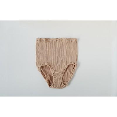 オーガニックコットン 天衣無縫 リブ・ショーツ ブラウン M〜L(フリー) 綿100% 国産 フリーサイズ ナチュラル シンプル 柔らかい 優しい