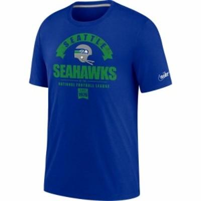 ナイキ Nike メンズ Tシャツ トップス Seattle Seahawks Old Royal Rewind Historic Tri-Blend T-Shirt