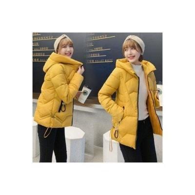 ダウンコート レディース ダウンジャケット ショートコート 冬服 暖かい 防寒  大きいサイズ 中綿 フード付き アウター 無地  暖かい 体型カバ