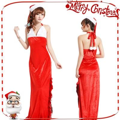 サンタコスプレ クリスマス 衣装 ロング コスチューム コスプレ 仮装 サンタクロース サンタ衣装 レディース ワンピース サンタ帽子