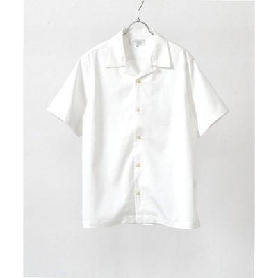 シャツ ブラウス テンセルオープンカラーシャツ