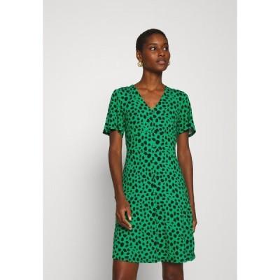 ドロシーパーキンス ワンピース レディース トップス SPOT BUTTON THROUGH TEA DRESS - Jersey dress - multicolored