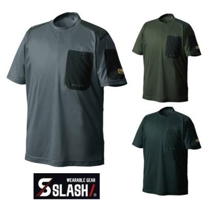 【2020年モデル】SLASH STX ハイブリッド Tシャツ 冷感 半袖 S〜5L 吸汗速乾 かんたん刺繍申込み ドライ シンメン 0203 かっこいい 安い 春夏使用推奨