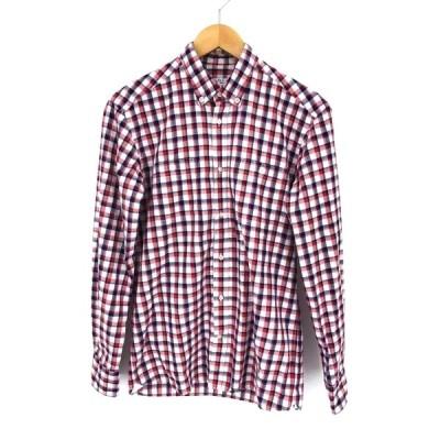 キツネ KITSUNE チェック柄ボタンダウンシャツ メンズ S 中古 古着 210609