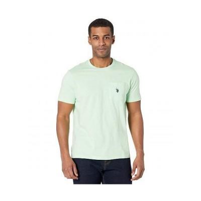 U.S. POLO ASSN. USポロ メンズ 男性用 ファッション Tシャツ Solid Crew Neck Pocket T-Shirt - Green Glow