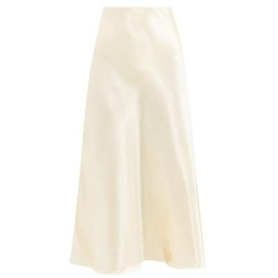 ザ ロウ The Row レディース ひざ丈スカート スカート Medela bias-cut satin midi skirt Cream